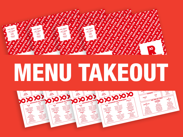 Menu TakeOUT Le Rouge Poisson